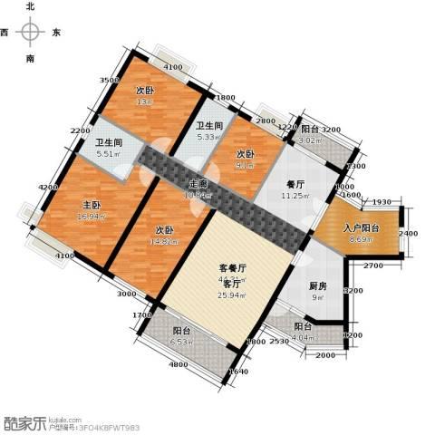 海逸锦绣誉峰4室1厅2卫1厨170.00㎡户型图