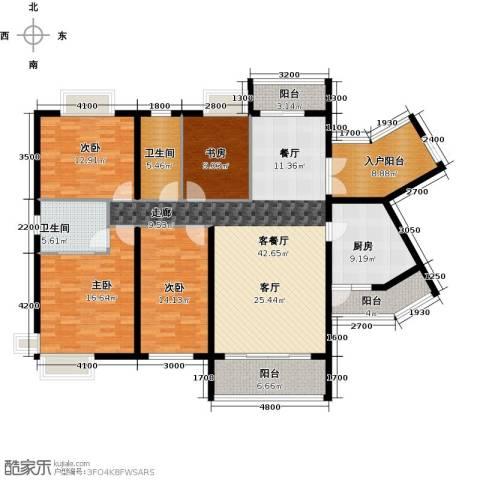海逸锦绣誉峰4室1厅2卫1厨168.00㎡户型图