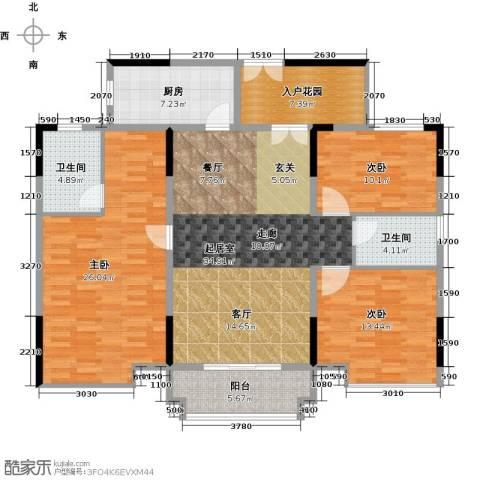 城央御景尚品3室0厅2卫1厨126.00㎡户型图