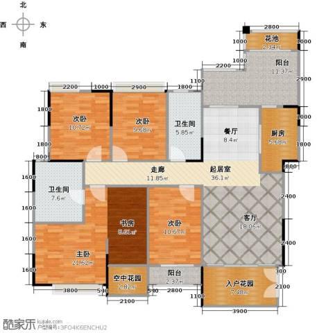 睿山4室0厅2卫1厨182.00㎡户型图