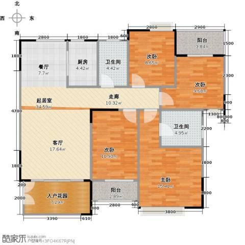 睿山4室0厅2卫1厨148.00㎡户型图
