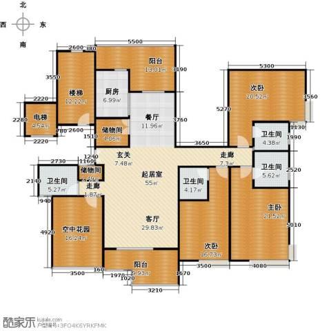 新世纪星城海涛居3室0厅4卫1厨270.00㎡户型图