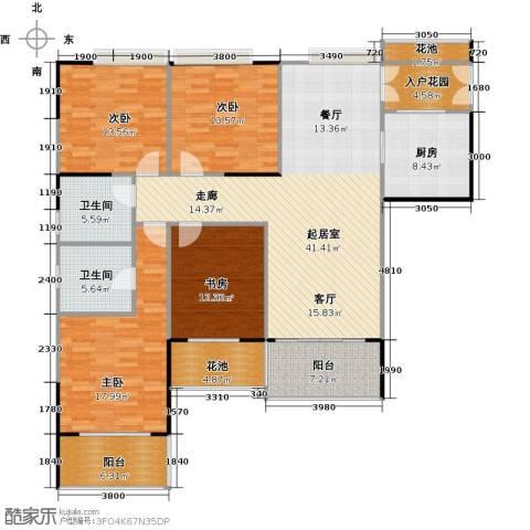 睿山4室0厅2卫1厨157.00㎡户型图