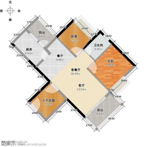 可逸家园1室1厅1卫1厨86.00㎡户型图