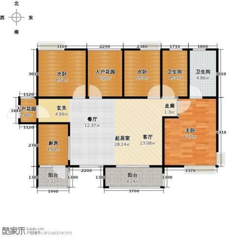 香樟1号3室0厅2卫1厨115.00㎡户型图