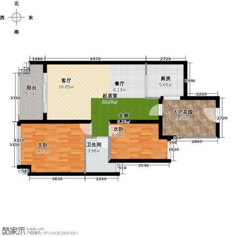 金色家园2室0厅1卫1厨87.00㎡户型图