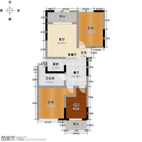 晓庄国际广场1室1厅1卫1厨113.00㎡户型图