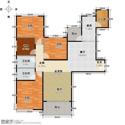 恒大雅苑4室0厅2卫1厨163.00㎡户型图