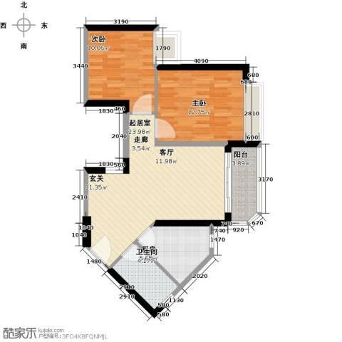 恒大海上夏威夷2室0厅1卫1厨82.00㎡户型图