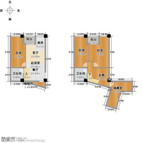 晓庄国际广场2卫0厨155.00㎡户型图