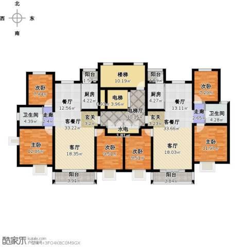 南方国际广场2期6室2厅2卫2厨262.00㎡户型图