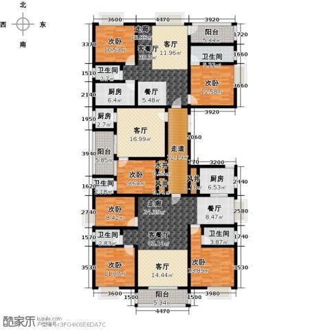 博美雅居6室3厅5卫3厨320.00㎡户型图