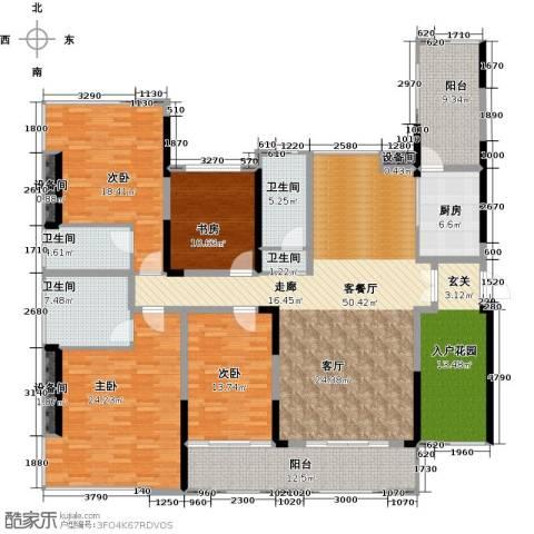 金地湖山大境4室1厅4卫1厨254.00㎡户型图