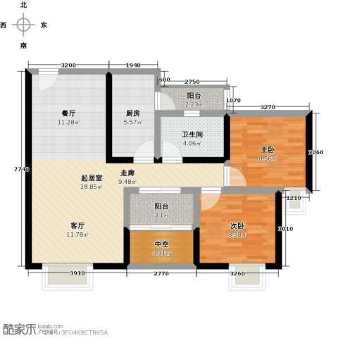 北城阳光尚线2室0厅1卫1厨95.00㎡户型图