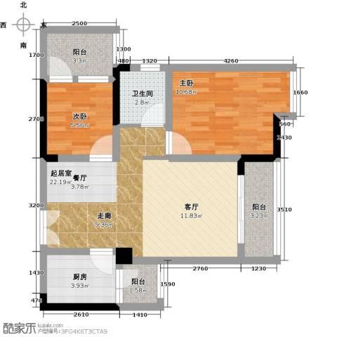万友七季城七季城品2室0厅1卫1厨56.00㎡户型图