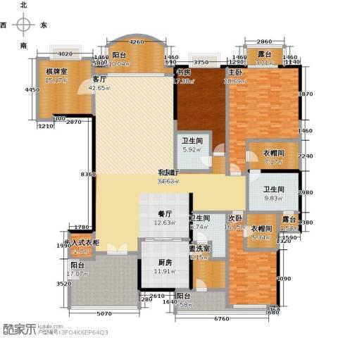 信达阳光海岸3室1厅3卫1厨291.00㎡户型图