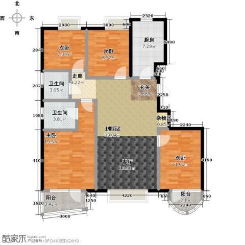 首创・澜茵山4室0厅2卫1厨123.00㎡户型图