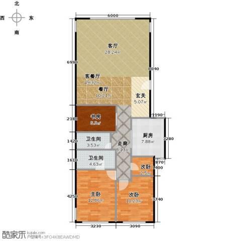 东城逸墅4室1厅2卫1厨130.00㎡户型图