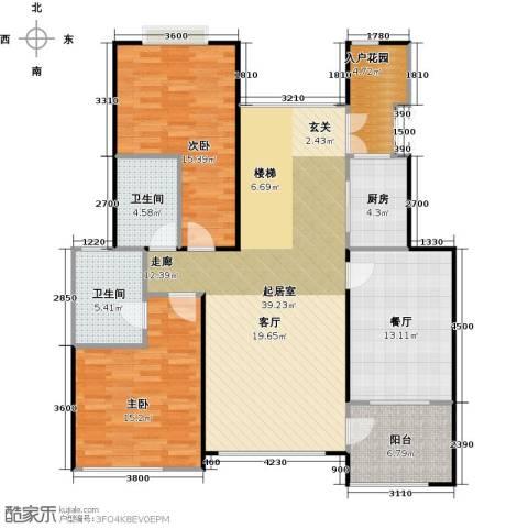 天景雨山前三期2室1厅2卫1厨161.00㎡户型图