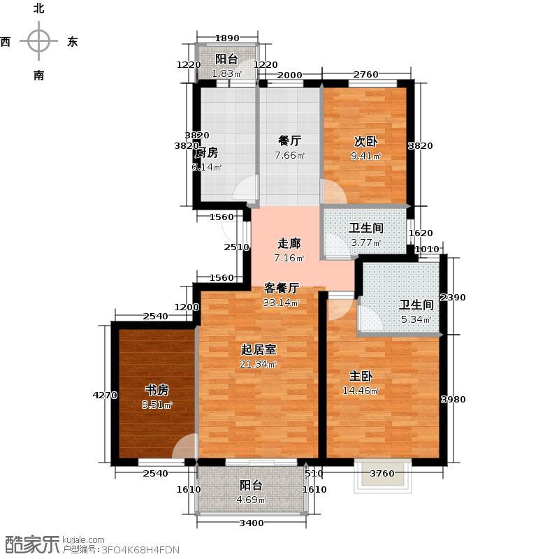 上林溪南区114.00㎡C3户型3室1厅2卫1厨