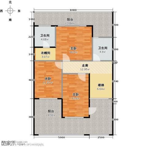 莲湖四季豪园3室0厅2卫0厨137.00㎡户型图