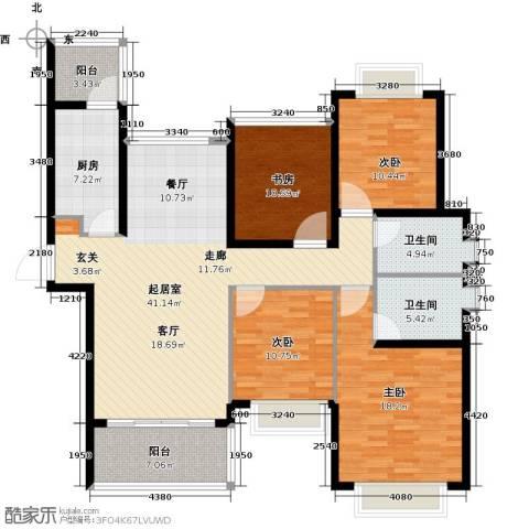 合景峰汇国际4室0厅2卫1厨135.00㎡户型图