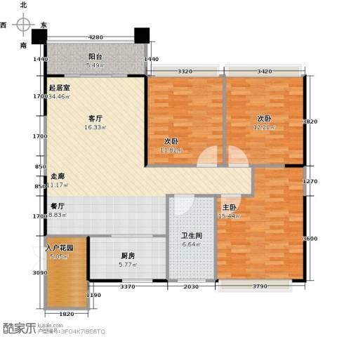 阳光100芒果TOWN3室0厅1卫1厨104.00㎡户型图