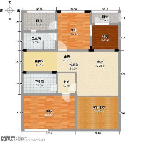 弘泽制造3室0厅2卫0厨161.00㎡户型图