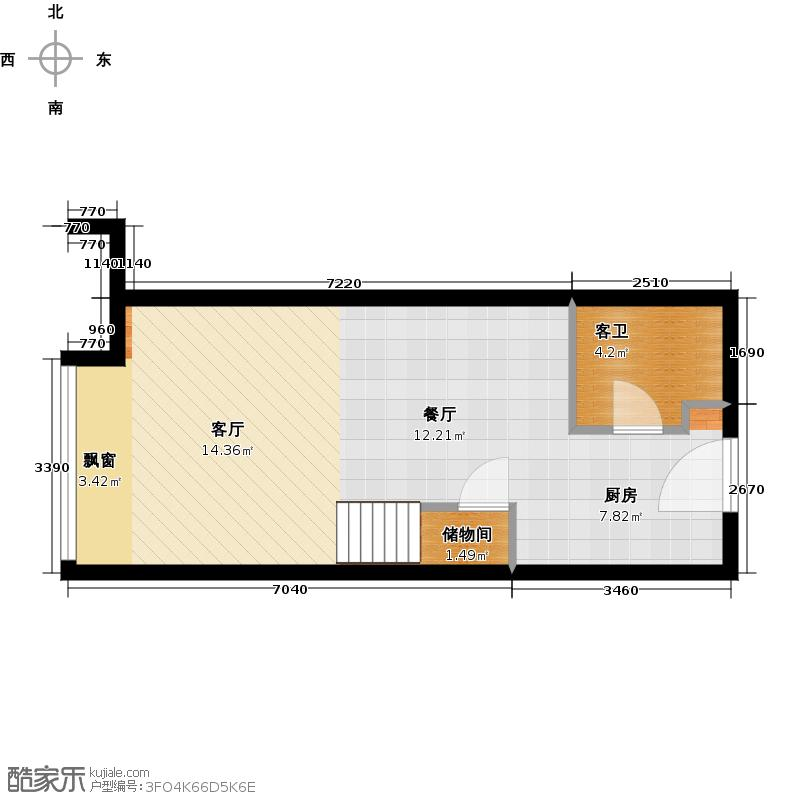 华景里理想地公寓01户型