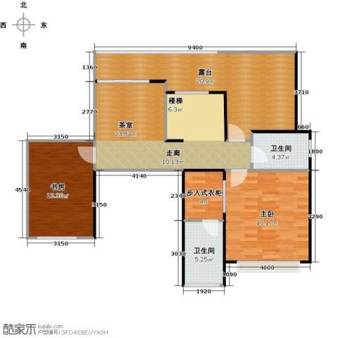 天景雨山前三期2室0厅2卫0厨186.00㎡户型图