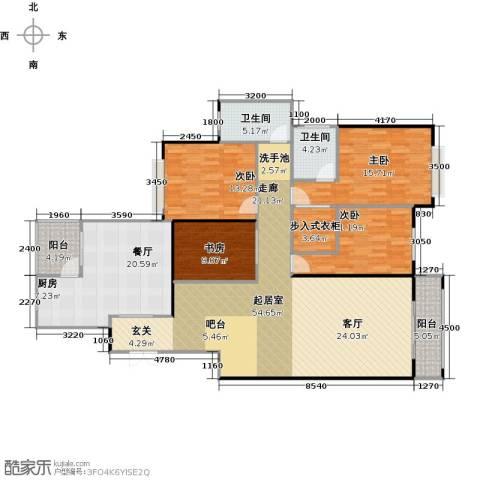 水印长堤蓝泊湾4室1厅2卫0厨197.00㎡户型图