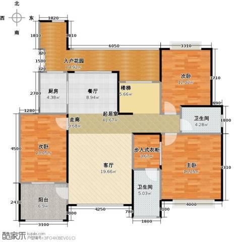 天景雨山前三期3室0厅2卫1厨178.00㎡户型图