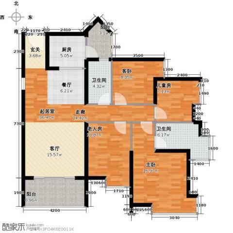 悦时代花园4室0厅2卫1厨133.00㎡户型图