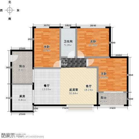 深业欧景城3室0厅1卫1厨132.00㎡户型图