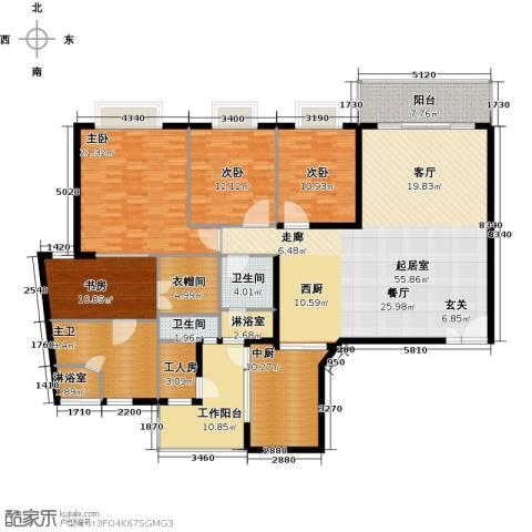 瑞安创逸4室0厅2卫0厨170.00㎡户型图