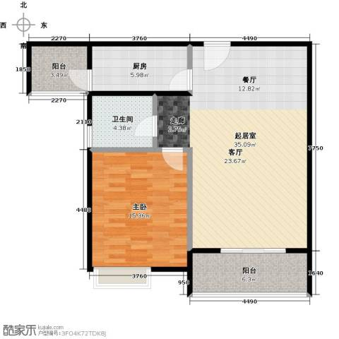 鼓楼广场1室0厅1卫1厨98.00㎡户型图