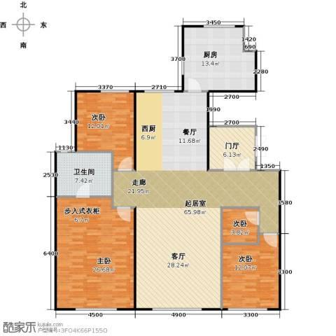天润・香墅湾1号4室0厅1卫1厨190.00㎡户型图