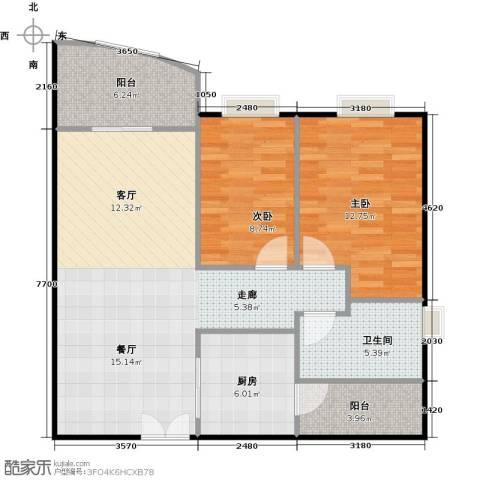 东山紫园商业2室0厅1卫1厨94.00㎡户型图