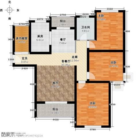 绿地世纪城3室1厅1卫1厨149.00㎡户型图