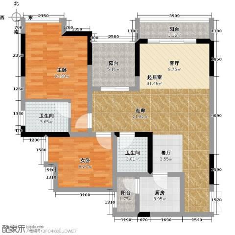 万友七季城七季城品2室0厅2卫1厨78.00㎡户型图