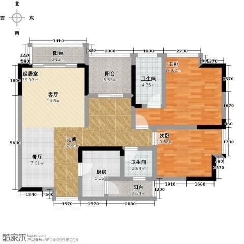万友七季城七季城品2室0厅2卫1厨89.00㎡户型图