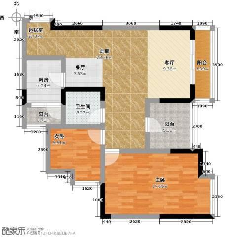 万友七季城七季城品2室0厅1卫1厨79.00㎡户型图