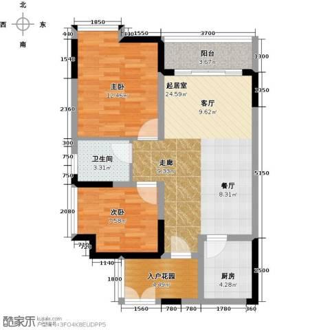 万友七季城七季城品2室0厅1卫1厨63.00㎡户型图