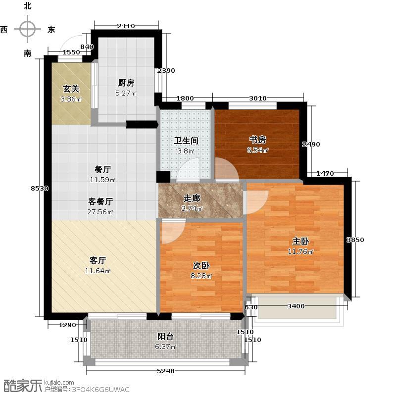 滨江金色黎明89.00㎡F3号楼1、2单元02、03室6、10、14号楼02、03室15号楼1、3单元02、03室户型3室2厅1卫