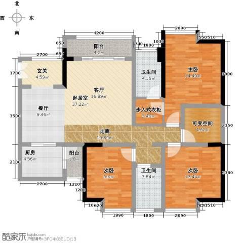 万友七季城七季城品3室0厅2卫1厨100.39㎡户型图