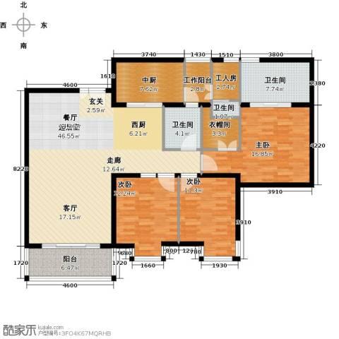 瑞安创逸3室0厅3卫0厨138.00㎡户型图