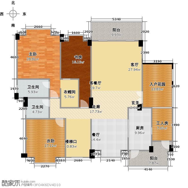 欧亚山庄户型3室1厅2卫1厨