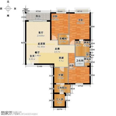 瑞安创逸3室0厅1卫0厨161.00㎡户型图