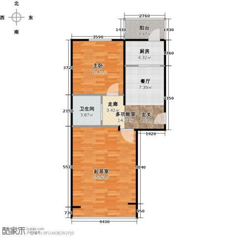 青城庄园1室0厅1卫1厨69.00㎡户型图