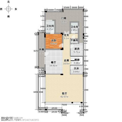 合正东部湾1室1厅2卫1厨184.00㎡户型图